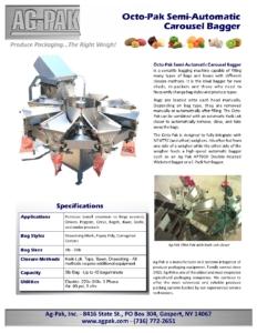 Ag-Pak Octo-Pak Semi-Automatic Carousel Bagger Brochure