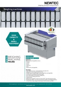 NEWTEC 4012B2 Weigher Literature