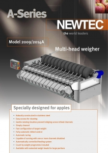 NEWTEC A-Series Weigher Literature