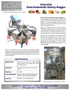 Ag-Pak Octo-Pak Semi-Automatic Rotary Bagger Brochure 0518