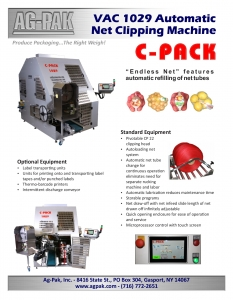 C-PACK VAC 1029 Ag-Pak Literature