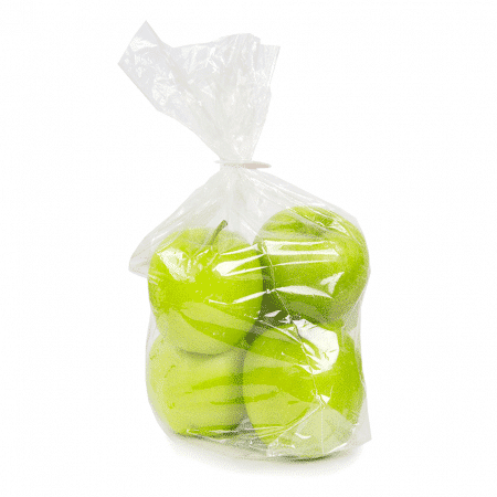 Apples in wicketed bag with Kwik Lok
