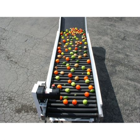 Ag-Pak Roller Inspection Table Black Rollers